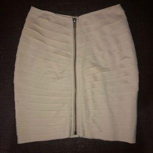 Anthropology ivory/cream mini skirt NWT